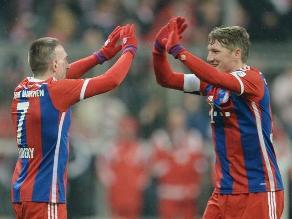 Bayern Munich: Sin Pizarro, bávaros golearon y celebraron sus 115 años