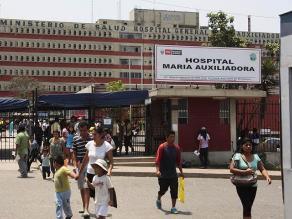 Minsa evalúa declarar en emergencia Hospital María Auxiliadora