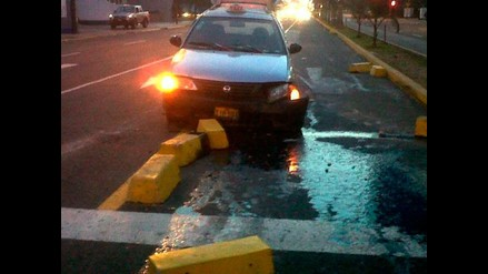 Dos personas quedan heridas en accidente ocurrido en la av. Javier Prado