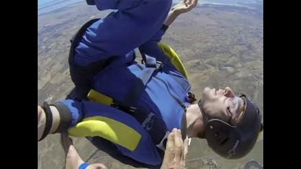 YouTube: rescatan a paracaidista que sufre ataque de epilepsia