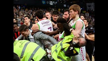 Básquet: Batalla campal se armó en la liga española de baloncesto