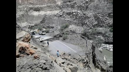 Áncash: autoridades se reunirán de emergencia por desplome de carretera