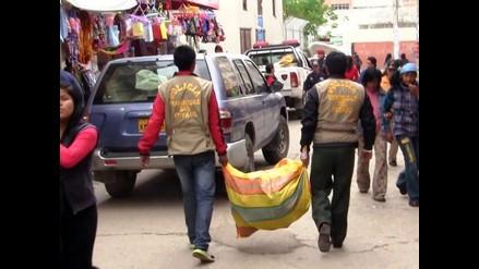 Huancayo: incautan gran cantidad de útiles en feria escolar