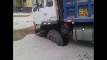 Chiclayo: mal estado de las pistas ocasiona forado