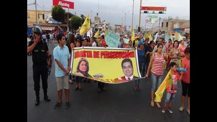 Chimbote: simpatizantes de César Álvarez piden su libertad