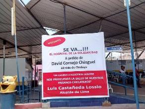 Hospital de la Solidaridad instala carteles y cuestiona a alcalde de Chiclayo