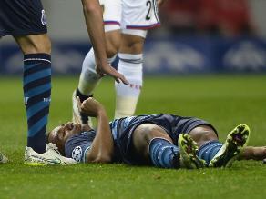 Champions: Danilo de Porto, retirado en ambulancia por un fuerte choque
