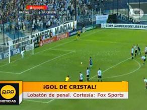 Sporting Cristal: Carlos Lobatón convirtió el 2-1 de penal ante Racing Club