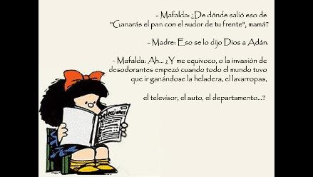 Feliz Cumpleaños Mafalda Lea Los Cinco Mejores Diálogos De