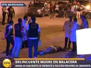Asaltante muere en VES al enfrentarse a policías tras robar una camioneta