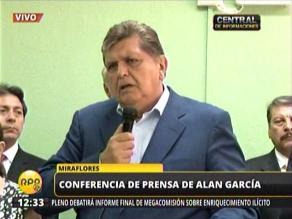 Alan García: Decretos de urgencia son imprescindibles para acelerar obras