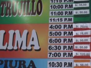 Chimbote: pasajes incrementarán en más de 50 % en Semana Santa