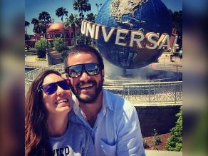 Tilsa Lozano y Miguel Hidalgo de luna de miel en Miami