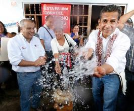 Distrito de Rioja cuenta ya con agua y saneamiento