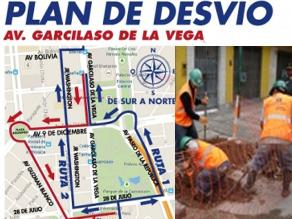 Se pone a prueba plan de desvío por obras en avenida 28 de julio