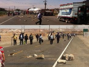 Arequipa: Manifestantes bloquean Panamericana Sur