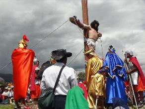 Huancayo: escenificarán vía crucis de Jesús en distrito de Cajas