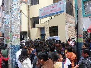 Huancayo: postulantes al concurso CAS exigieron anulación del proceso