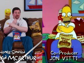 YouTube: imitan la velocidad de Homero Simpson para comer