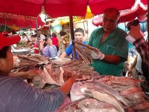 Chiclayo: gran demanda de pescado fresco y salado por Semana Santa