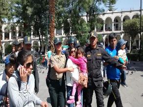 Arequipa: PNP impide que huelguistas ocupen frontis de la Catedral