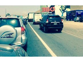 Congestión vehicular en la Panamericana Sur genera inseguridad