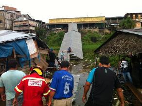Iquitos: siete heridos deja colapso de puente Productores