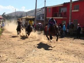 Huancayo: una persona fallecida tras carrera de caballos
