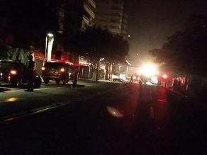 San Isidro: Fuga de gas genera gran congestión vehicular y corte de luz