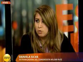 Extrabajadora de congresista Wilder Ruiz denuncia amenazas