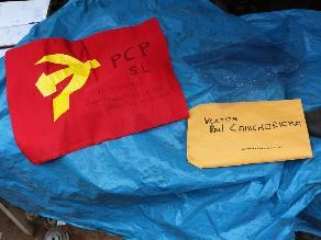 Huancayo: amenazan a dirigente con la bandera de la hoz y el martillo
