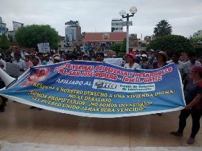 Chiclayo: moradores protestan rechazando cambio de nombre a pueblo joven
