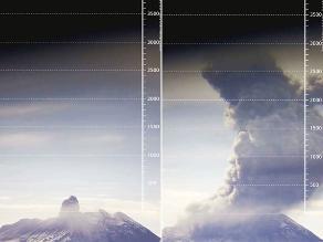 Explosión en el Ubinas alcanza 3 500 metros sobre el cráter
