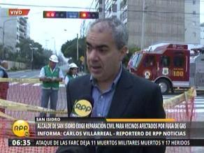 San Isidro: Alcalde anuncia acciones legales por fuga de gas
