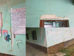 Escolares en peligro por pésima infraestructura de colegio en Piura