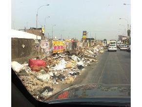 Continúa el botadero de basura en la avenida Nicolás Ayllón