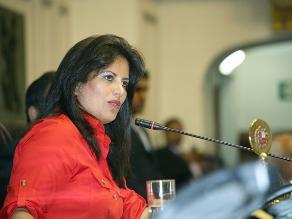 Carmen Omonte votará por Cateriano y pide respaldo del Congreso