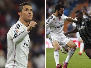 Liga Española: Las imágenes tras la victoria de Real Madrid sobre Málaga