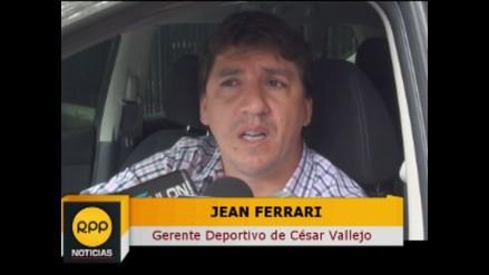 Alianza Lima vs. César Vallejo: Jean Ferrari felicita al árbitro Luis Garay