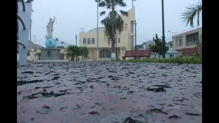 Áncash: manto de cenizas cubre al centro poblado San Jacinto