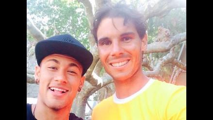 Neymar le dio afectuosa bienvenida a Barcelona a Rafael Nadal
