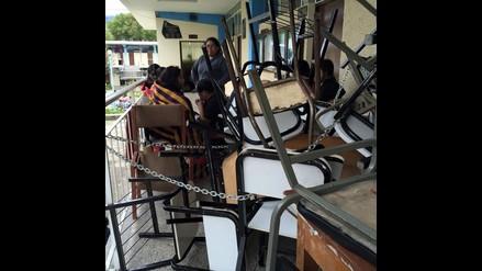 Cajamarca: protestantes mantienen tomado el Decanato de Educación de UNC