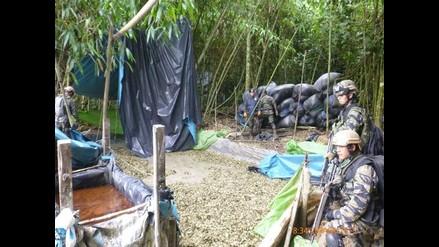 Ayacucho: incineran más de 2 mil 400 kilos de hojas de coca en el Vraem