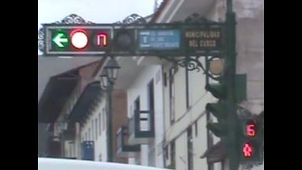 Cusco: reportan problemas en semáforos instalados en la ciudad