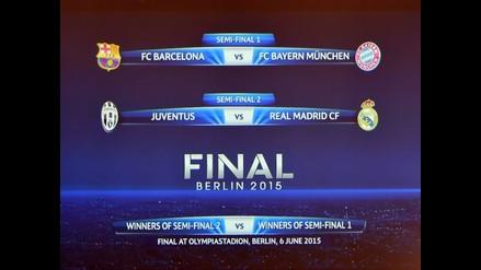 Barcelona-Bayern Munich y Juventus-Real Madrid por semifinales de Champions