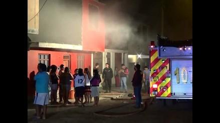 Nuevo Chimbote: mujer y sus tres hijos salvan de morir quemados