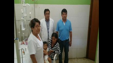 Chiclayo: llevan ayuda a bebé que fue mordida por serpiente