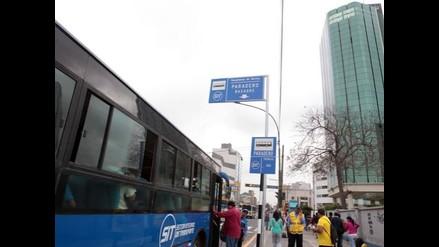 Corredor Javier Prado: pocos usuarios subieron a buses azules