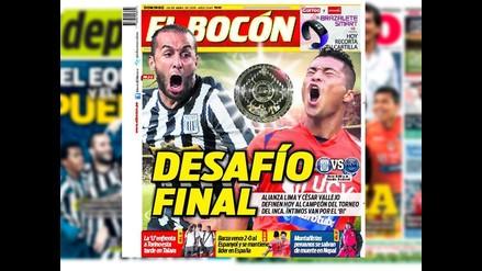 Alianza Lima vs. César Vallejo: Las portadas de la final del Torneo del Inca