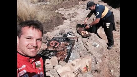 Rally Argentina: Fuchs abandona carrera y en vez de enojarse, disfruta parrilla